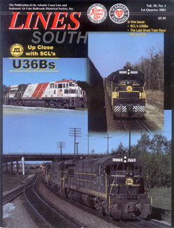 ACL & SAL Historical Society LINES SOUTH Vol 18 No 1