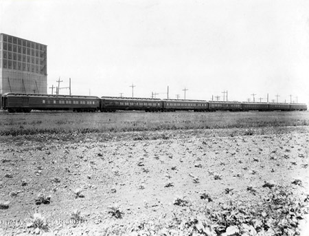 Photo of the 1926 Cardinal's Train to the 28th Eucharistic Congress in Chicago