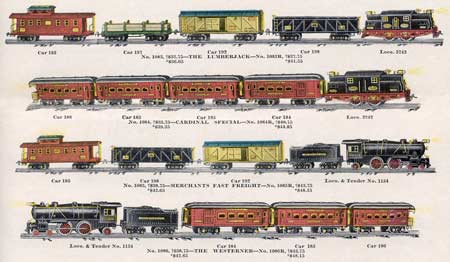 The 1926 Cardinal's Train Ives Standard Gauge  Model 1929 Catalog