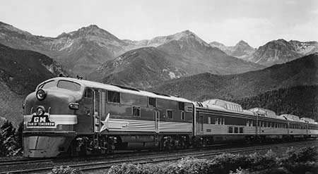 Photo of the 1947-1949 General Motors Train of Tomorrow