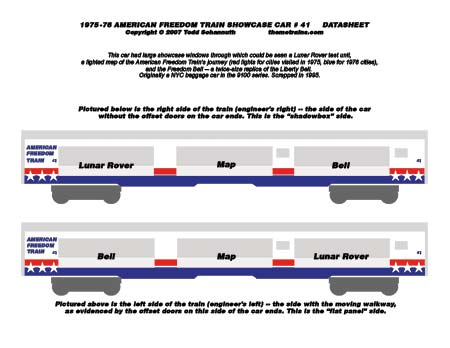 American Freedom Train Car 41 Decals by Accuen