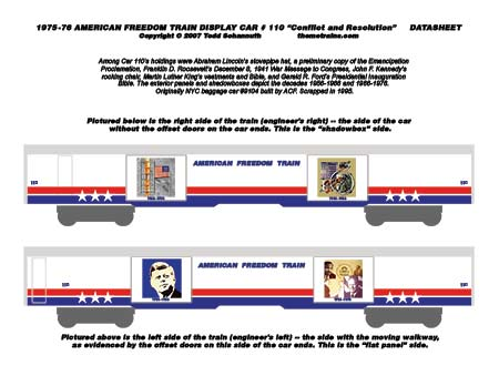 American Freedom Train Car 110 Decals by Accuen